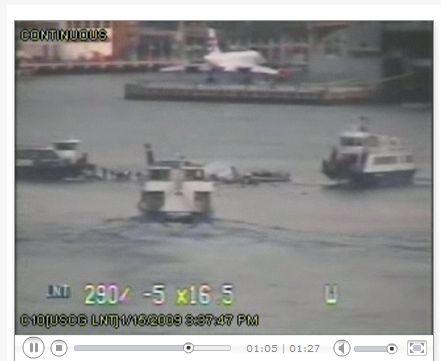Notwasserung New York Hudson River